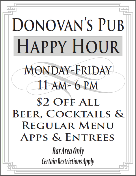 Donovan's Happy Hour!