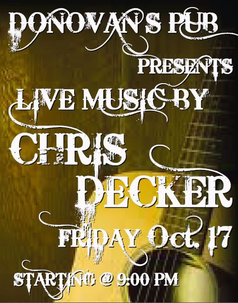 Live Music by Chris Decker