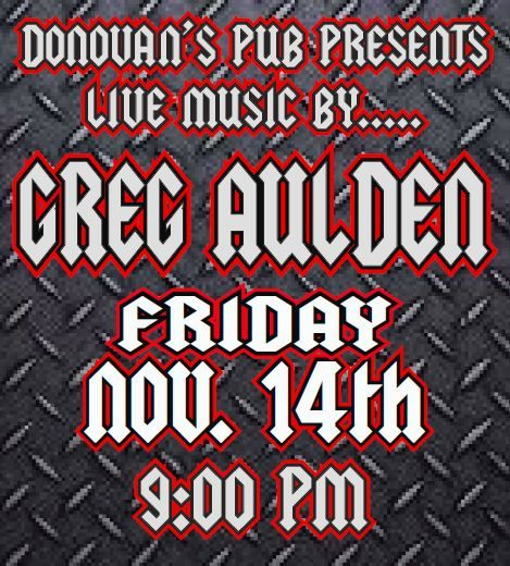 Live Music by Greg Aulden